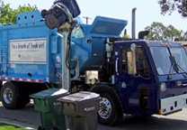 Photo of a Rainbow Recycling truck